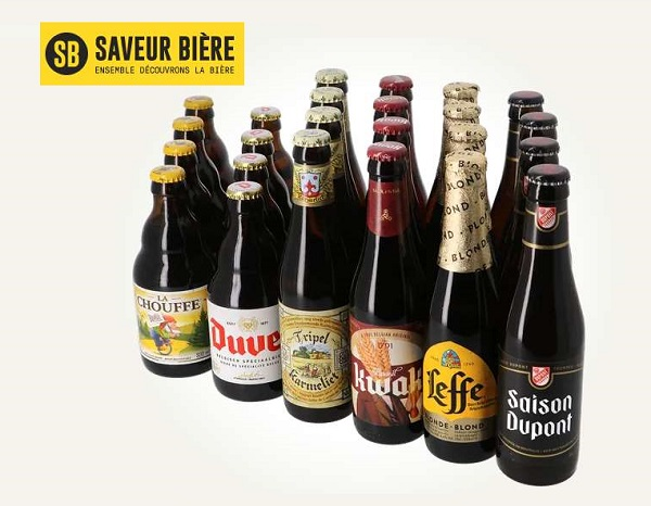 offre méga pack bières belges 24 bouteilles + livraison gratuite
