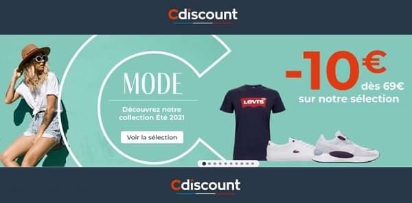 offre mode collection eté de cdiscount 10€ dès 69€ d'achat