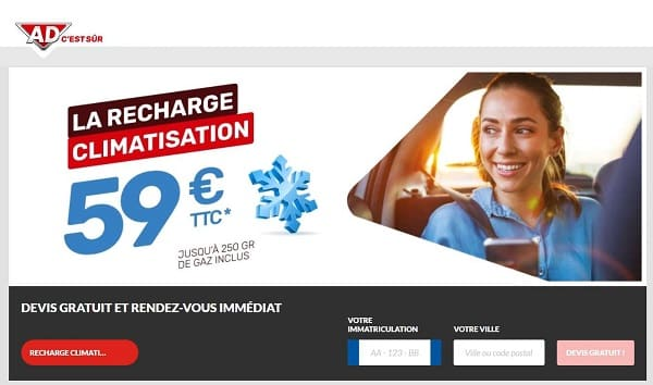 offre spéciale recharge climatisation ad auto