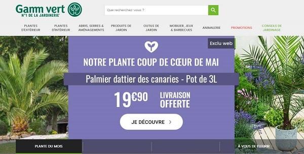 Offre spéciale : Palmier dattier des canaries 19€90 + livraison gratuite par Gamm Vert (exclu internet)