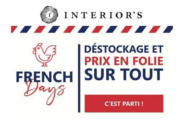 pour les french days interior's profitez d'un déstockage