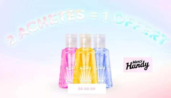 promotion sur les gels mains nettoyants merci handy