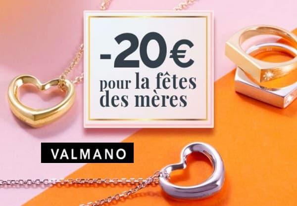 spéciale fête des mères 20€ sur des bijoux et de montres sur valmano