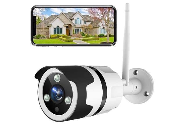 caméra de surveillance extérieure wi fi avec détecteur infrarouge netvue