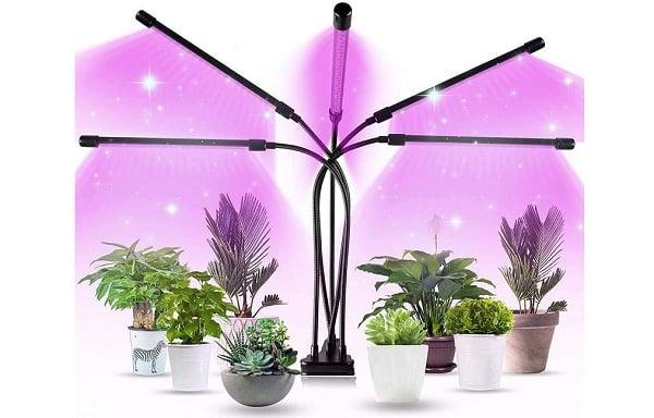 lampe led horticole avec 5 têtes réglables