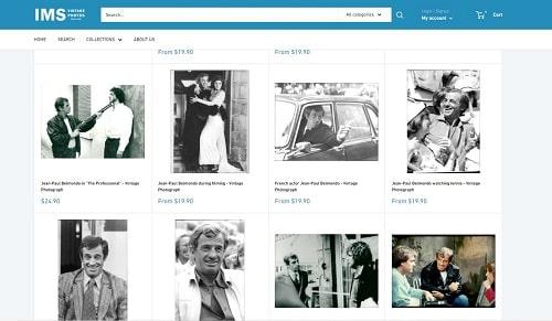 photos de presse originales.. dont Jean-Paul Belmondo