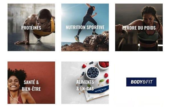 remise sur tout le site body&fit nutrition, protéine, minceur, vitamine