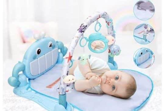 tapis d'éveil et de jeux bébé arche avec piano luchild