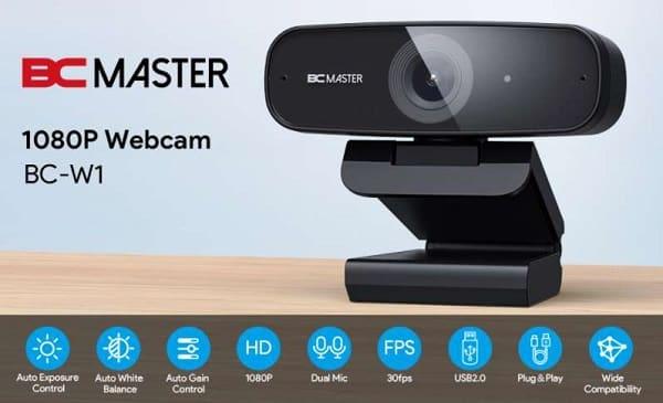 webcam full hd 1080p avec microphones stéréo bcmaster bc w1