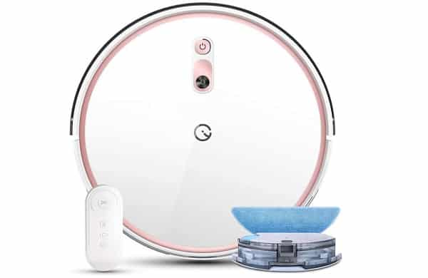 2 en 1 laveur et aspirateur robot yeedi k700 avec télécommande
