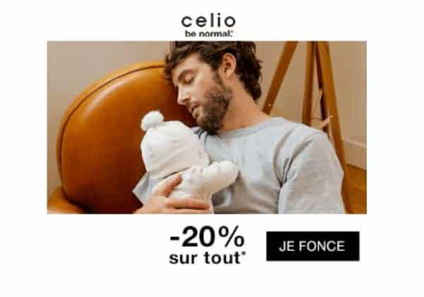 20% de remise sur votre commande sur celio