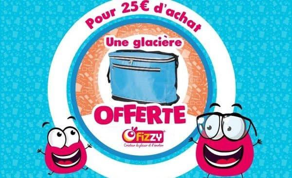 25€ d'achat de bonbons et gourmandises fizzy = 1 glacière offerte