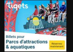 5% de remise sur les entrées parcs d'attractions sur tiqets