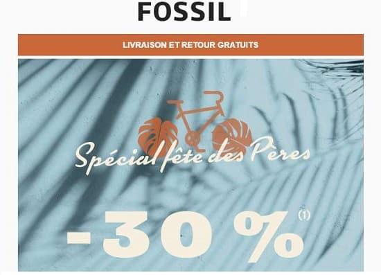 cadeaux pour la fête des pères fossil 30% de remise