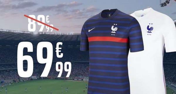 euro 2021 20€ de remise sur les maillots de l'équipe de france de foot