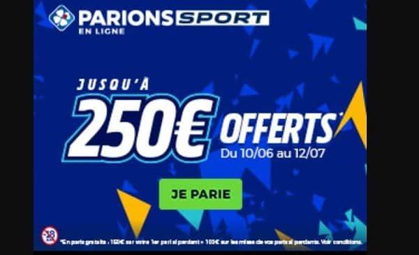 EURO 2021 PARIONSPORT : 150€ offerts en paris gratuits sur votre 1er pari si perdant (et même encore +100€) ⚽️