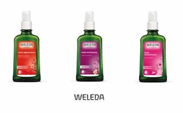 huiles de soin et de massage weleda moins chères avec une remise