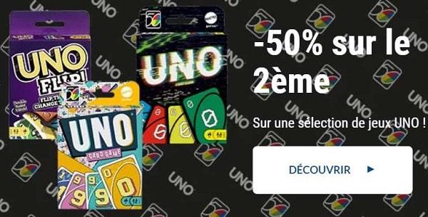 Offre la Grande Récré : 50% de remise sur le second jeu UNO