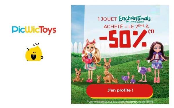 offre spéciale enchantimals 1 jouet acheté = le second à 50% sur picwictoys
