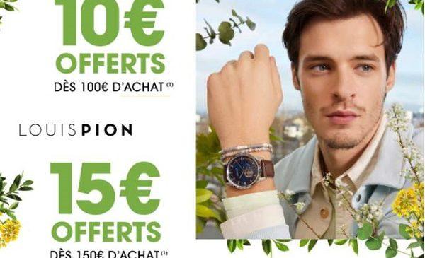 offre spéciale louis pion 10€ dès 100€ ou 15€ dès 150€ d'achat