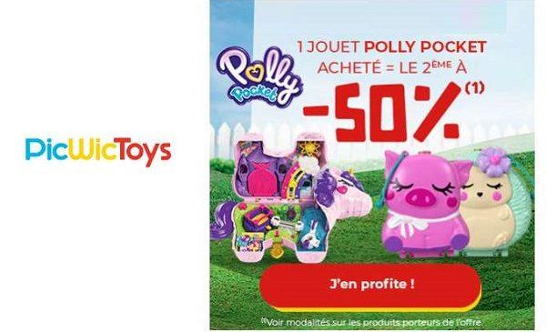 Polly Pocket : 1 jouet acheté = le second à moitié prix