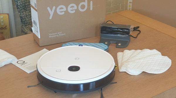 test robot aspirateur et laveur yeedi 2 hybrid