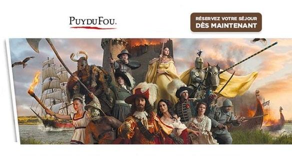 vente flash séjours puy du fou (hôtel + entrée) auchan voyages