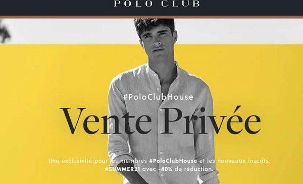 Vente privée Polo Club : 40% de remise sur toute la collection
