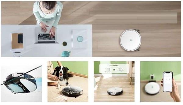 laveur et aspirateur robot yeedi k650 wi fi (recharge automatique,
