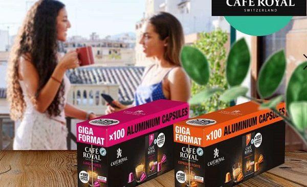 remise sur les packs de 100 capsules cafe royal
