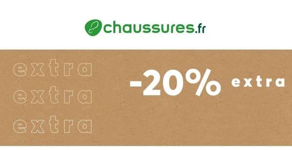 20% de remise supplémentaire sur les soldes chaussures