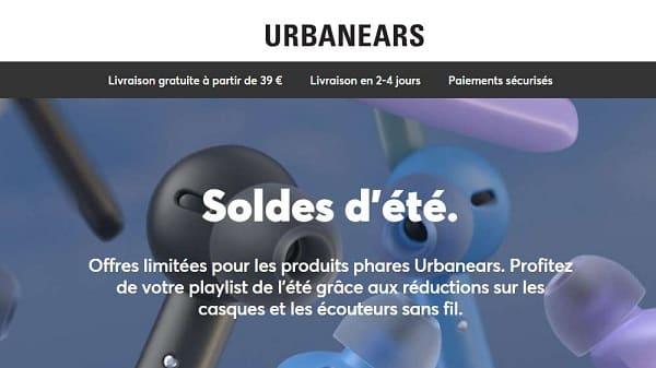 60% sur des casques et écouteurs sans fil urbanears pendant les soldes