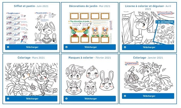 activités pour enfant à télécharger gratuitement (coloriage, découpage...) par les jouets français