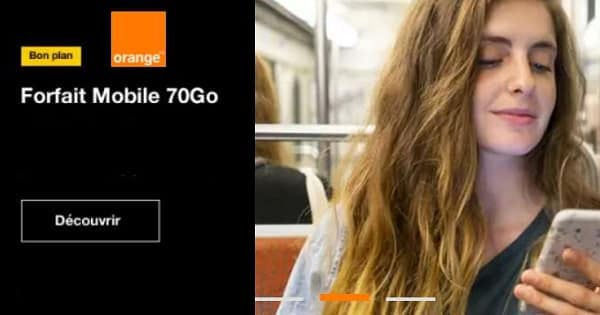 bon plan forfait orange forfait mobile 70go