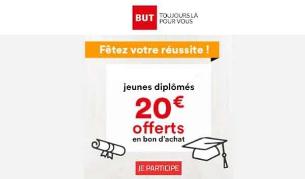 But offre un bon d'achat de 20€ aux jeunes diplômés