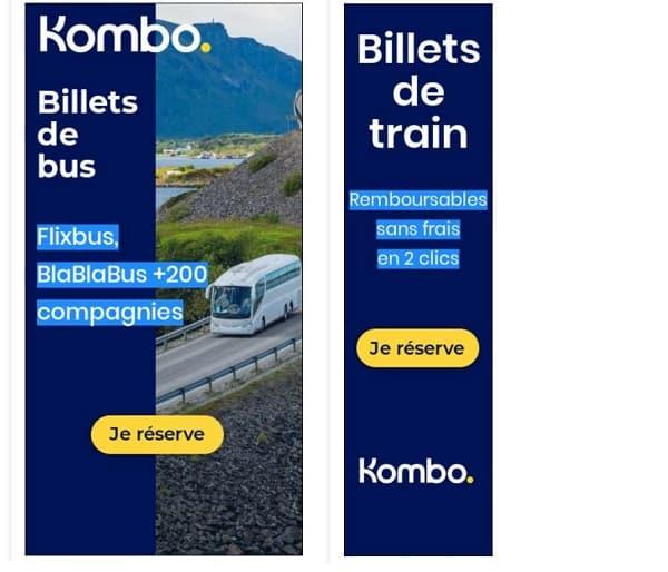 kombo la plateforme qui permet d'acheter vos billets de train, bus et avion moins chers et simplement