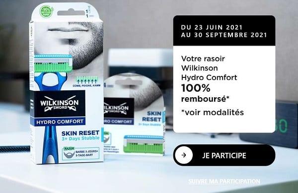 rasoir pour homme hydro comfort de wilkinson 100% remboursé