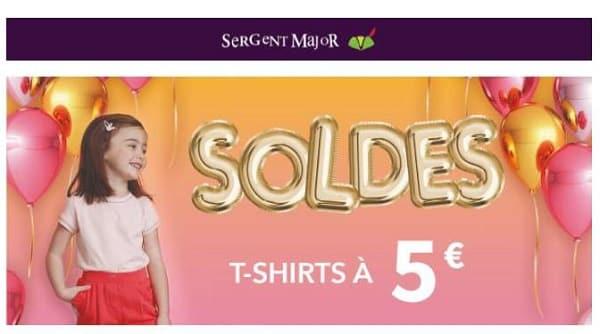 t shirts sergent major à 5€ pour les soldes