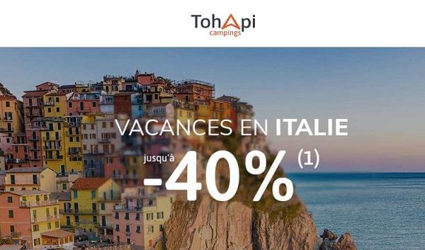 vacances en camping en italie moins chers avec tohapi