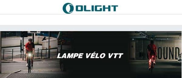 réduction pour tous les produits éclairage vélo olight