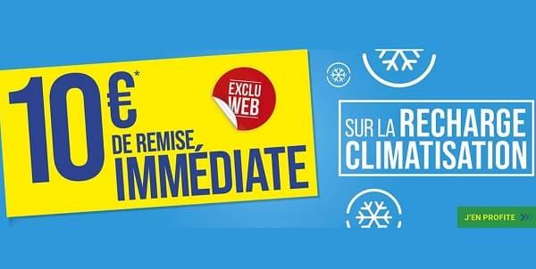 10€ de remise immédiate sur la recharge climatisation sur Euromaster