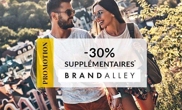 30% de reduction supplémentaire sur plus de 3000 articles deja en promotion sur brandalley