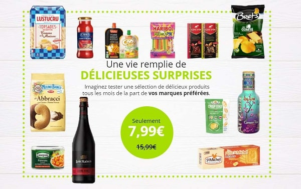 7,99€ seulement la degustabox