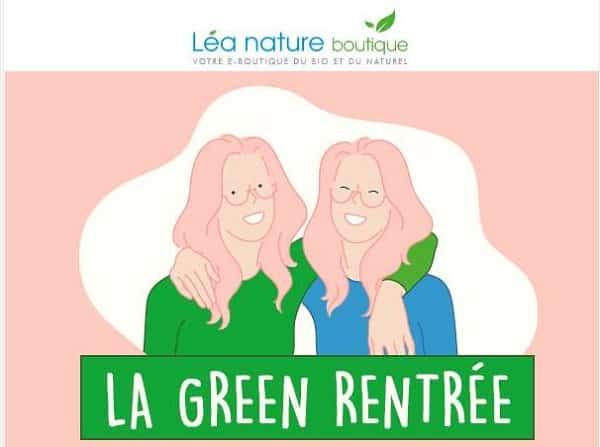 Green rentrée Léa Nature