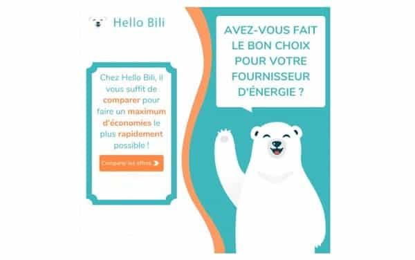 Hello Bili le comparateur de fournisseurs d'électricité et gaz qui en 1 clic vous permet de faire des économies
