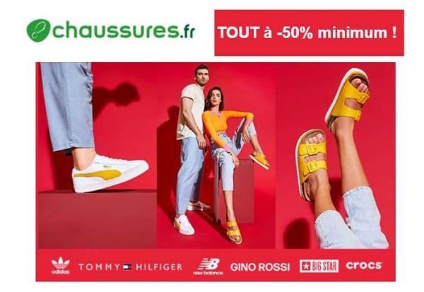 Plus de 4000 paires de chaussures à -50% et plus sur Chaussures