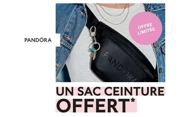 un sac ceinture offert dès 99 € d'achat sur le site pandora