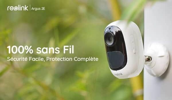 caméra de surveillance Wi-fi rechargeable extérieure Reolink Argus 2E