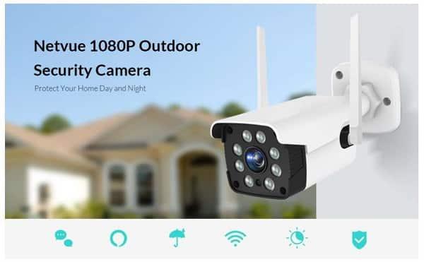 caméra de surveillance extérieure WI-FI infrarouge Netvue Vigil 2