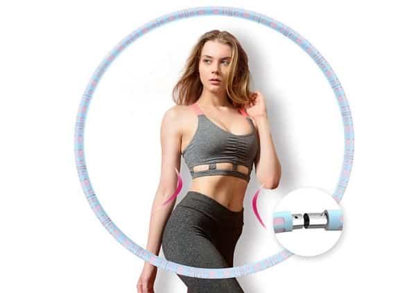 cerceau de fitness Hula Hoop réglable et démontable avec tube intérieur métal Aikove